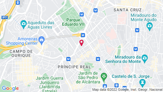 TURIM Marquês Hotel Map