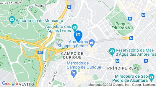 RH Aqueduto Lisbon House Map