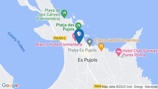 Blanco Hotel Formentera Map