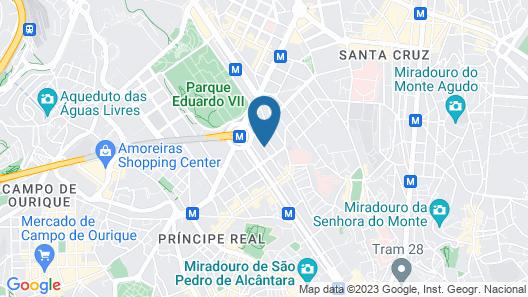Lisboa Central Hostel Map