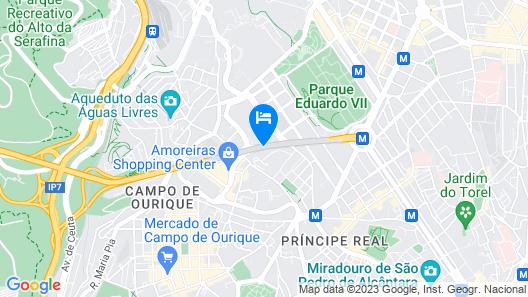 EPIC SANA Lisboa Hotel Map