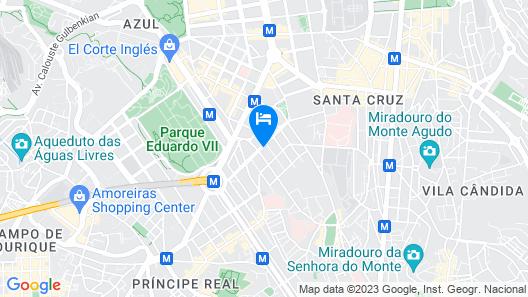 LX51 Smart Suites & Studios - Lisbon Center Map