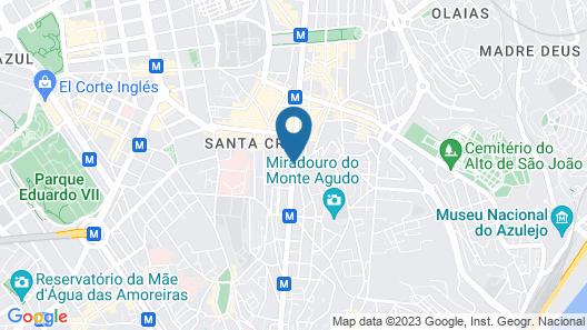 Czar Lisbon Hotel Map