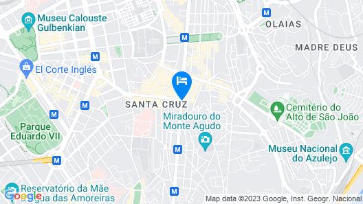 My Charm Lisbon Suites Map