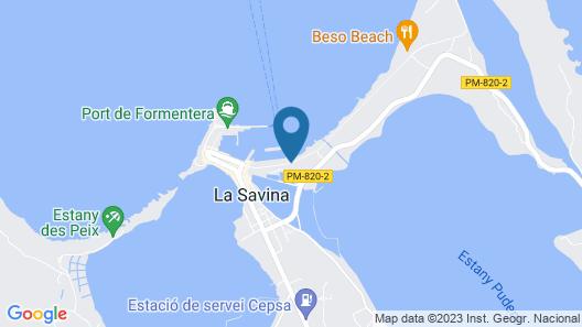 Formentera Mar - Apartamentos Aviacio Map