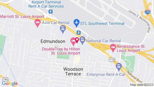 OYO Hotel St. Louis Lambert Airport Map