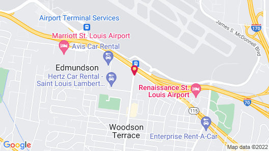 Best Western Plus St. Louis Airport Hotel Map
