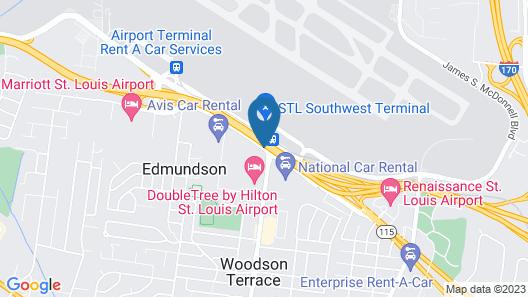 Quality Inn St. Louis Airport Hotel Map