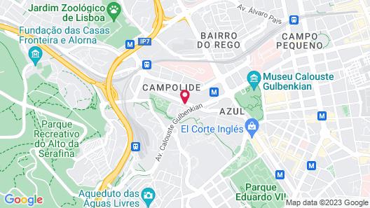 Novotel Lisboa Map
