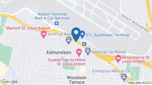 Hilton St. Louis Airport Map