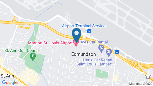 Marriott St. Louis Airport Map