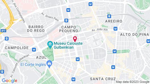 Jupiter Lisboa Hotel Map