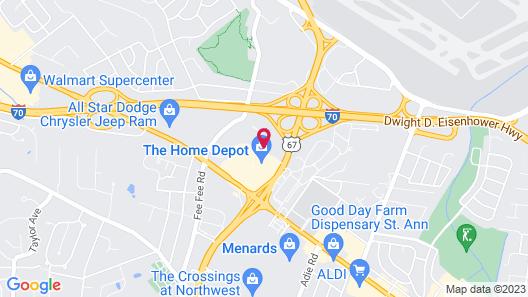 Sleep Inn St Louis - Airport Map