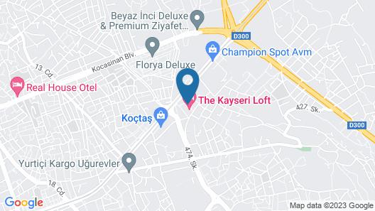 The Kayseri Loft Hotel Map