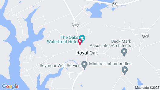 The Oaks Waterfront Inn Map