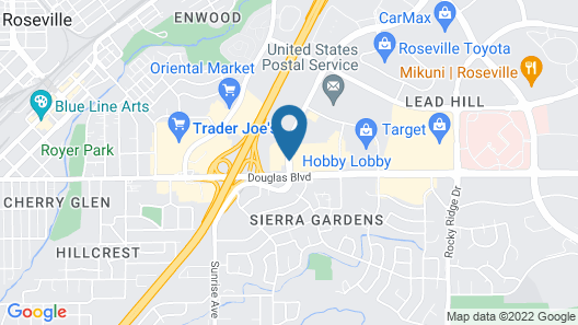 Hampton Inn & Suites Roseville Map