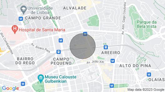 Holiday Apartment in Lisbon, Avenida de Roma Map