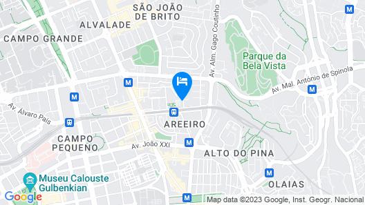 Nesha Guesthouse Lisbon Map