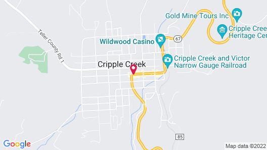 Century Casino & Hotel Cripple Creek Map