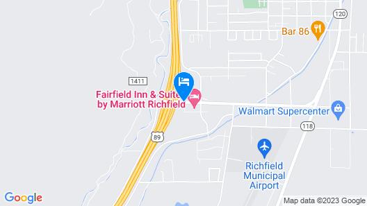 Comfort Inn Richfield I-70 Map
