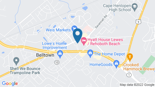 Home2 Suites by Hilton Lewes Rehoboth Beach Map