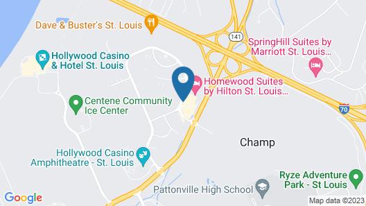 Holiday Inn Express St. Louis Arpt - Maryland Hgts, an IHG Hotel Map