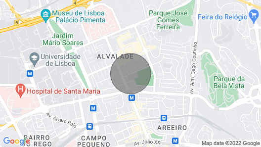 Lisbon: 50's Bairro de Alvalade Map