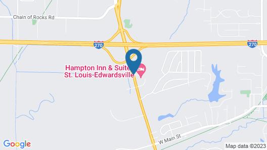 Hampton Inn Suites St LouisEdwardsville Map