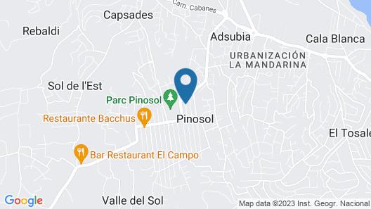 Aparthotel Pinosol Map