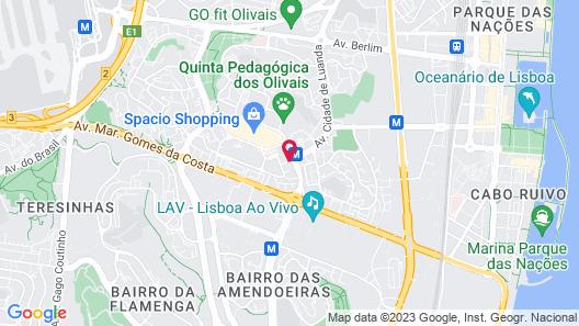 Lisbon Airport Suites Map