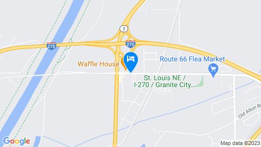 Econo Lodge & Suites Granite City Map
