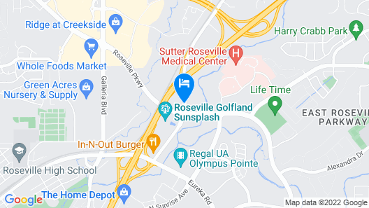 Larkspur Landing Roseville - An All-Suite Hotel Map