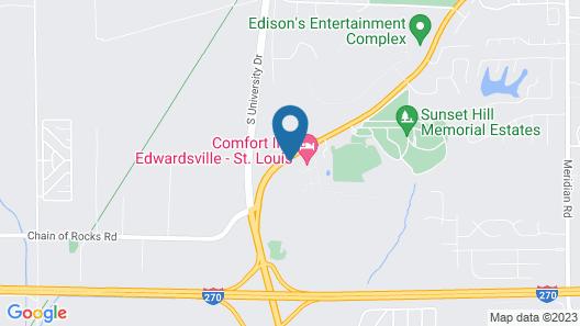 Comfort Inn Edwardsville - St. Louis Map