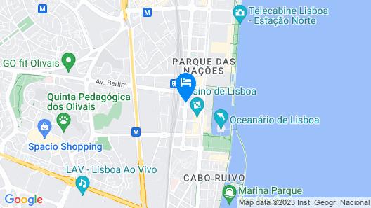 Apt in Lisbon Oriente 25 - Parque das Nações Map