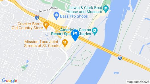 Drury Plaza Hotel St. Louis St. Charles Map