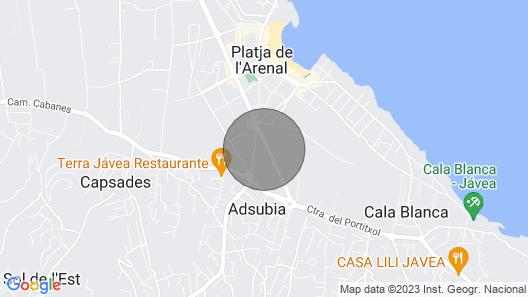 Casita Javea - Urbanization Cofitsa Map