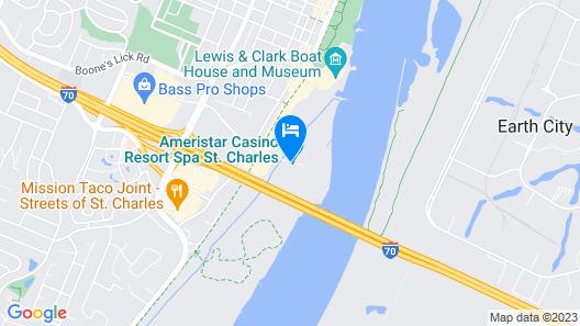 Ameristar Casino Resort and Spa (St. Charles) Map