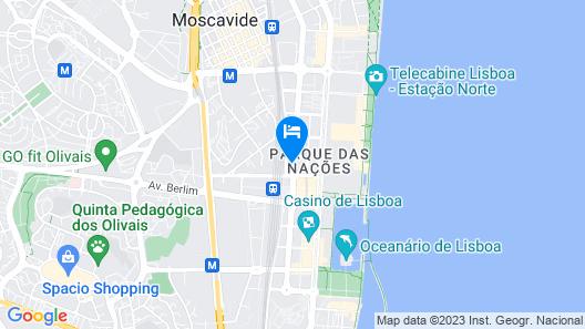 TRYP Lisboa Oriente Hotel Map