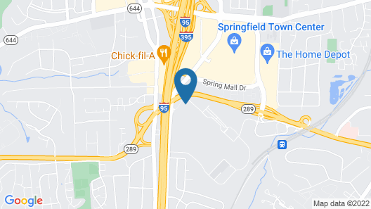 Extended Stay America Washington, D.C. - Springfield Map