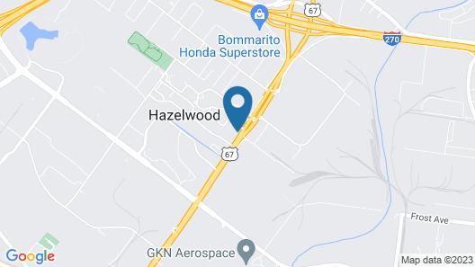 HomeTowne Studios by Red Roof St. Louis - Airport/ N Lindbergh Map