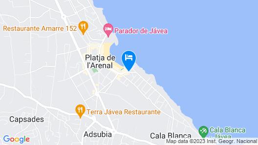 Bungalows El Arenal Map