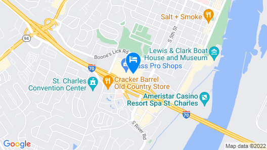 Americas Best Value Inn & Suites St. Louis, St. Charles Inn Map