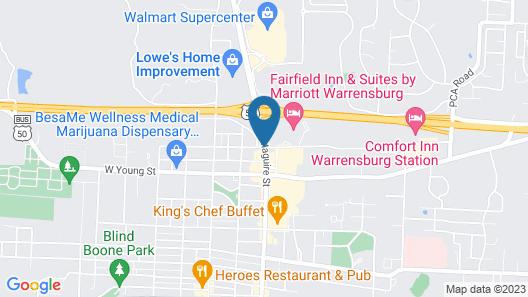 Best Western Warrensburg Inn Map