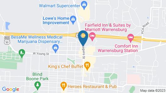 Comfort Inn Warrensburg Station Map