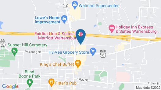 Fairfield Inn & Suites by Marriott Warrensburg Map