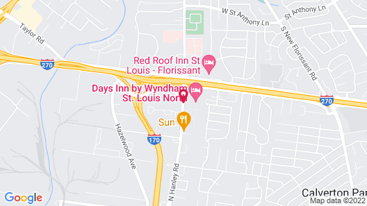 Days Inn by Wyndham St. Louis North Map