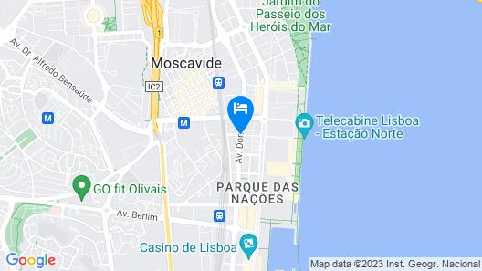 Apt in Lisbon Oriente 57 - Parque das Nações Map