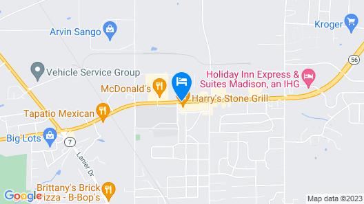 Best Way Inn Madison Map