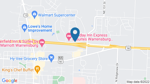 Holiday Inn Express & Suites Warrensburg North, an IHG Hotel Map