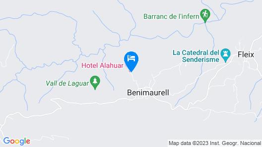 Hotel Alahuar Map